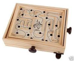 Wooden Maze Game With Ball Bearing Marble Game eBay 88