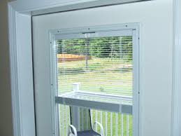 eye catching patio doors with blinds inside on french built in between the glass