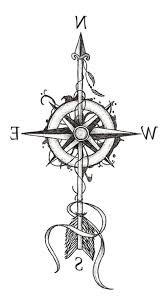 Arrow Compass 825 Temporary Tattoo Temporary Tatoos