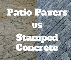 choosing between patio pavers and stamped concrete