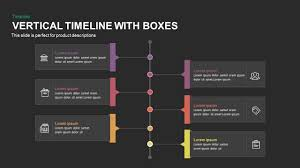 Vertical Timeline Powerpoint Vertical Timeline Powerpoint Template And Keynote With Boxes