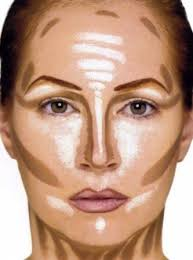 how to apply contour makeup on face