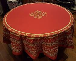 70 french cotton round tablecloth avignon red