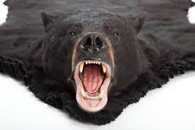 black bear fake bear rug white faux fur rug 8x10