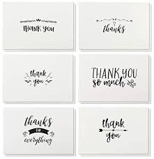 Blank Thank You Notes Thank You Cards 48 Count Thank You Notes Kraft Paper Bulk Thank You Cards Set Blank On The Inside Handwritten Style Includes Thank You Cards