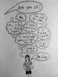 Im Fine Quotes New I'm Fine Quotes Pinterest Draw Drawing Ideas And Depressing