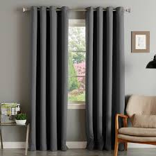 aurora home thermal insulated blackout grommet top 84 inch curtain panel pair 52 x