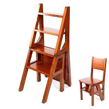 3 step wooden ladder small wood ladder wood folding ladder convertible multi functional four step library 3 step wooden ladder