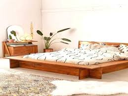 boho platform bed frame diy chic frames wooden king bedrooms astounding agreeable
