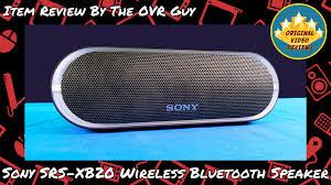 Sony Srs Xb20 Change Light Sony Srs Xb20 Wireless Bluetooth Speaker Review