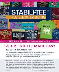 Stabili-TEE Fusible Interfacing Pack 60 x 72 inches: T-Shirt ... & Stabili-TEE Fusible Interfacing Pack 60