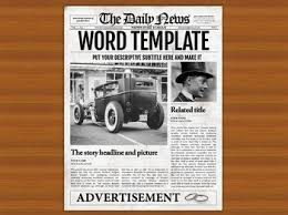 Old Time Newspaper Template Word 1 Page Newspaper Template Microsoft Word 8 5x11 Inch