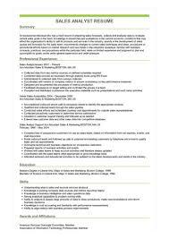 Sales Analyst Resume Sample Sales Analyst Resume