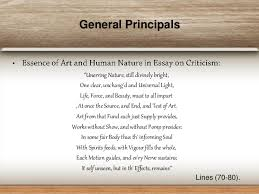 alexander pope and essay on criticism general principals 12