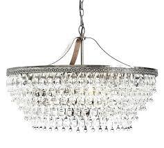 clarissa glass drop chandelier crystal round pottery barn c