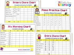 Editable Bedtime Routine Chart Editable Charts For Littles Littles Love Literacy