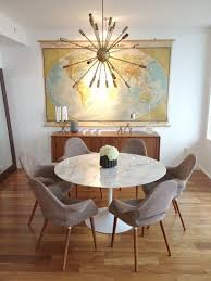 Mid Century Modern Design Ideas Marble Tulip Dining Table Mid Century Modern