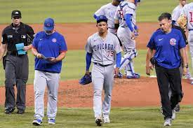 Cubs' Adbert Alzolay leaves game with ...