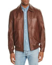 Andrew Marc Vaughn Leather Bomber Jacket | Bloomingdale's