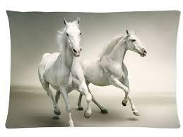 white horses running. Delighful White Most Popular Animal Black White Horse Pattern27 Pillowcase Horses Running  Pillow Case Cover 20x30 And White Horses Running O