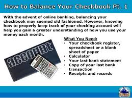 How To Write And Balance A Check