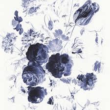Kek Amsterdam Behang Royal Blue Flowers I Multicolor Vliespapier 194
