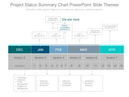 Project Status Summary Chart Powerpoint Slide Themes