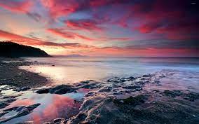 Sunset Over Sea Wallpaper