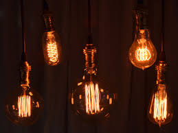 trendy lighting. a very trendy lighting hire option are these dimmable filament lamps available in several shapes and sizes