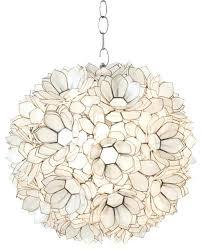 capiz shell worlds away off white lotus pendant lighting lampshade