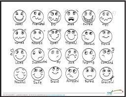 Feeling Faces Printable Coloring Sheet Feelings Chart