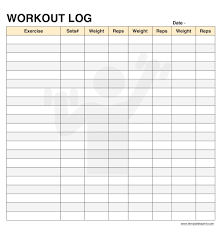 Daily Workout Journal Workout Log Book Template Magdalene Project Org