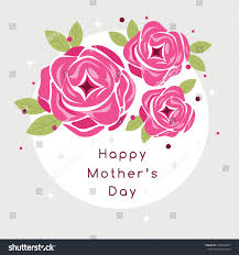 Mother S Day Graphic Design Happy Mothers Day Greetings Vector Art Stock Image