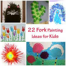 Interesting Paint Ideas 22 Fork Painting Ideas For Kids Pelitabangsa Ca