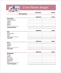 Sample Budget 11 Example Format