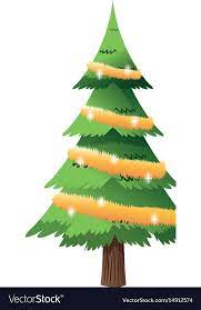 cartoon christmas tree lights and