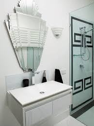 Example of a trendy bathroom design in Melbourne with a vessel sink and  white cabinets