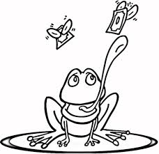 Small Picture Frog on Lily Pad coloring page Free Printable Coloring Pages