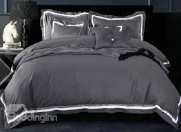 luxurious solid color 100 cotton 4 piece duvet cover sets