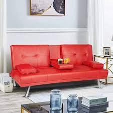 sofa cama de cuero sintetico mooseng en