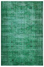 Green Over Dyed Vintage Rug 6u00276u0027u0027 X 9u00277u0027u0027
