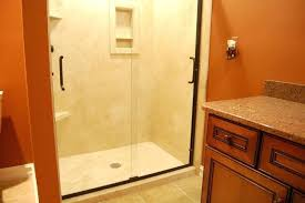 flex stone shower bathroom renovations flexstone shower wall installation