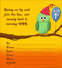 print free birthday invitations 20 cute 1st birthday invitations free printable and original