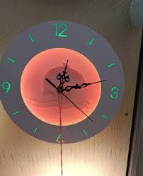 round wall clock with led light