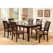 furniture of america precance 7 piece dining table set espresso from dining room table pads reviewse