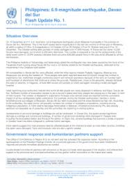 A magnitude 6.1 earthquake struck the mindanao region in the southern philippines early monday. Philippines 6 9 Magnitude Earthquake Davao Del Sur Flash Update No 1 As Of 16 December 2019 Philippines Reliefweb