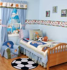 Soccer Bedroom Decorations Bedroom Endearing Soccer Theme Kids Room With Walnut Frame