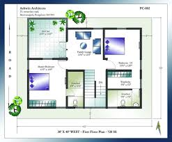 Modern Free House Plans East Facing North With Car Parking In North Facing House Vastu Plan 30x40