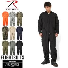 rothco roscoe air force style flight suit filler cover oar men s military air force work clothes clothes all in one long sleeves camouflage camouflage