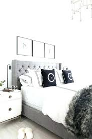 wall decor ideas bedroom gray and white wall decor grey tufted headboard light and bright bedroom home decor and interior decorating ideas white walls black